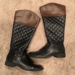 Shoes - Black/Brown Riding Boots